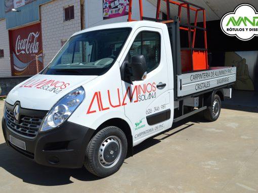 Rotulación vehículo – Aluminios Solana