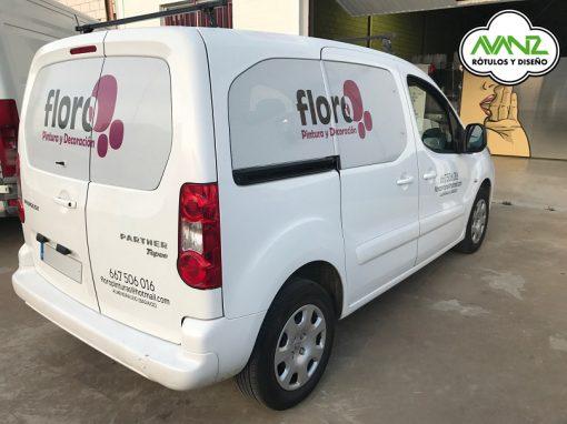 Rotulación Vehículo – Vinilo microperforado – Floro
