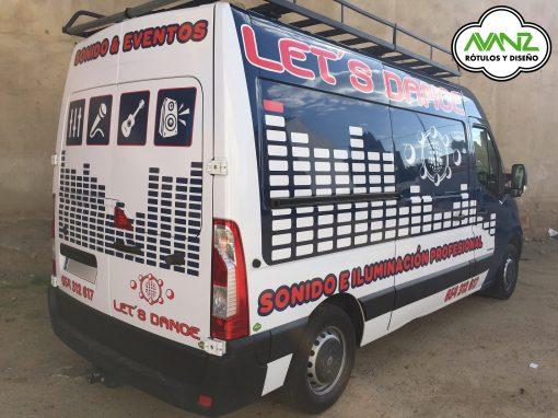 Rotulación vehículo – Vinilo de impresión – Let´s Dance