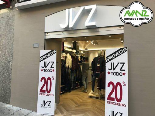 Rótulo Exterior – Tienda de ropa JVZ